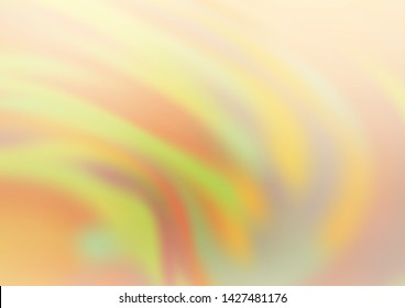 Light Yellow, Orange vector glossy abstract template. Colorful illustration in abstract style with gradient. The template can be used for your brand book.