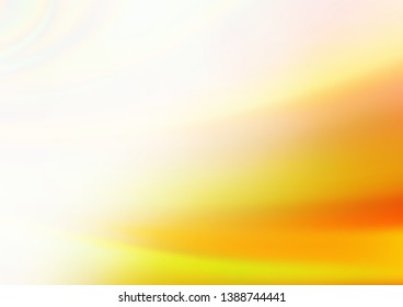 Light Yellow, Orange vector modern elegant template. Colorful illustration in blurry style with gradient. The best blurred design for your business.