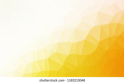 Light Yellow, Orange vector polygonal pattern. An elegant bright illustration with gradient. The elegant pattern can be used as part of a brand book.