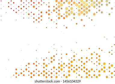 Light Yellow, Orange vector template with sky stars. Modern geometrical abstract illustration with stars. The pattern can be used for websites.