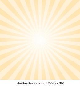 light yellow sunbeam background. Sun rays abstract wallpaper. Vector illustration for multipurpose use.