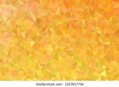 Light Yellow vector abstract polygonal background. Glitter abstract illustration with an elegant triangles. A completely new design for your leaflet.