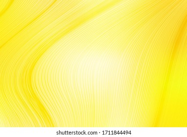 Light Yellow vector blurred pattern. New colored illustration in blur style with gradient. New style design for your brand book.