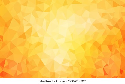 Light Yellow vector gradient triangles template. Colorful illustration in polygonal style with gradient. Triangular pattern for your design.