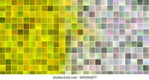 Light Yellow vector layout with lines, rectangles. Rectangles with colorful gradient on abstract background. Pattern for commercials, ads.