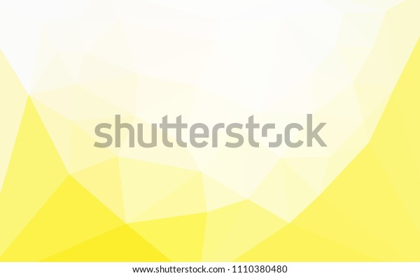 Light Yellow vector polygonal background with a heart in a centre. Triangular geometric sample with gradient.  Polygonal design for your web site.