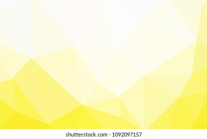 Light Yellow vector shining triangular layout. Elegant bright polygonal illustration with gradient. Brand new design for your business.