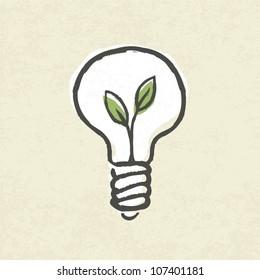 Lightbulb ecology concept. Vector illustration, EPS10