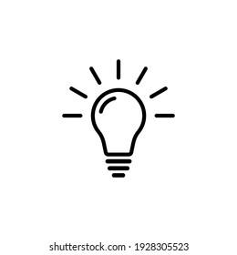 Lightbulb icon. Ideas, inspiration, crativity icon symbol vector design