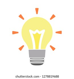 lightbulb icon - vector idea-lamp sign-illumination isolated-creativity vector-technology icon-innovation illustration-solution symbol