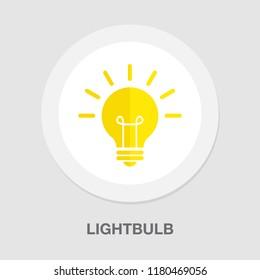 lightbulb icon - vector light bulb - idea symbol - energy illustration - electricity concept