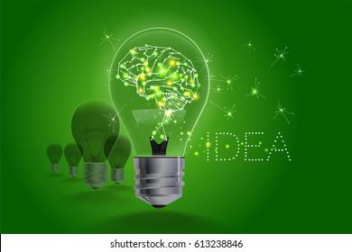 Lightbulb ideas concept. light and line motion. Vector illustration.