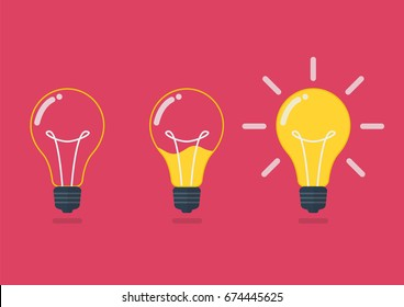 Lightbulb with liquid inside. Creative idea concept Vector illustration