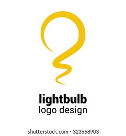 Lightbulb logo template. Lightbulb icon. Abstract lightbulb logo. Business logo template