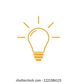 Lightbulb outline graphic design template vector illustration
