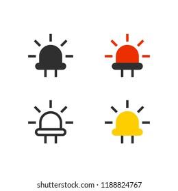 Light-emitting diode (LED) icon