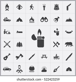 lighter icon. camping icons universal set for web and mobile