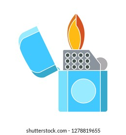 lighter icon-fire sign-smoking illustration-safety illustration-flammable isolated-Zippo vector