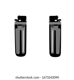 Lighters vector on white background. Silhouette vector design. Illustration vector style.