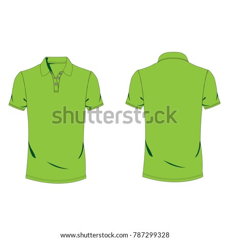 717c2ad30 lightgreen polo T-shirt template using for fashion cloth design and  assessorie for designer to make mock up or blue print in copany. - Vector