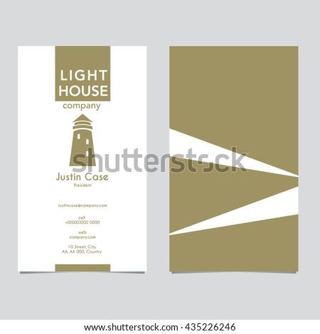 Lighthouse business sign business card vector stock vector royalty lighthouse business sign business card vector template lighthouse with light beam icon nautical colourmoves