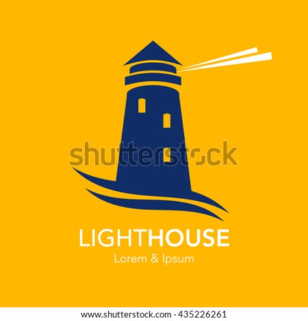 Lighthouse business sign template lighthouse abstract stock vector lighthouse business sign template lighthouse with abstract waves light beam icon nautical banner wajeb Gallery