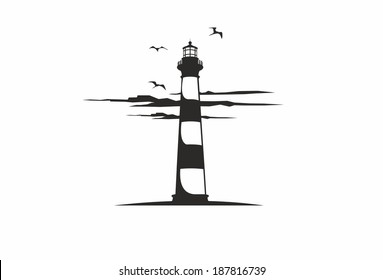 Lighthouse with clouds