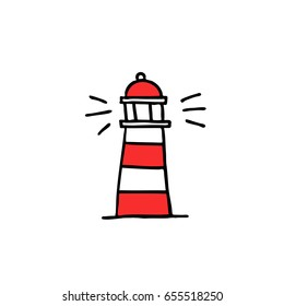 lighthouse doodle icon