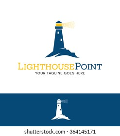 lighthouse logo for business, organization or website