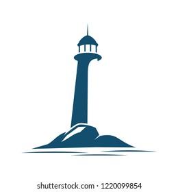lighthouse logo for business, website logo