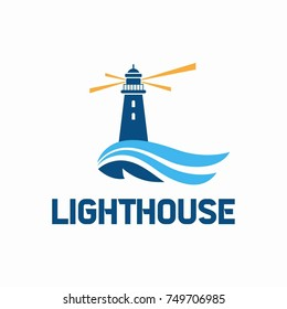 lighthouse logo design. Vector illustration