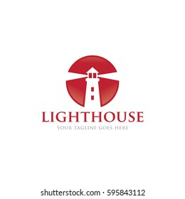 lighthouse logo icon vector template