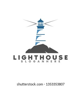 lighthouse logo illustration