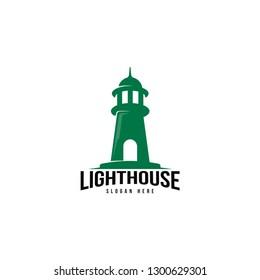 Lighthouse logo template. Building of lighthouse logo vector