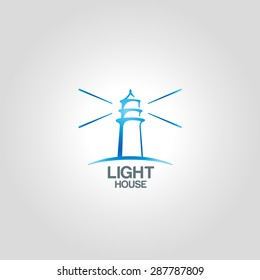 Lighthouse logo template. Corporate branding identity