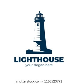 lighthouse logo. vector design