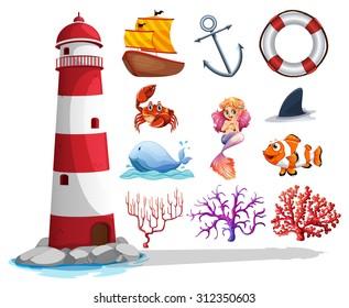 Excellent Lighthouse Clipart Images Stock Photos Vectors Shutterstock Interior Design Ideas Pimpapslepicentreinfo