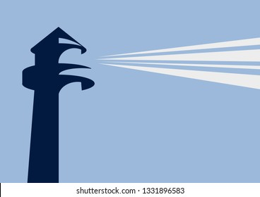 Lighthouse. Simple vector background