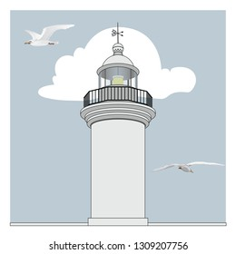 lighthouse vector art