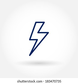 Lighting bolt icon. Modern line icon design. Modern line icon design. Modern icons for mobile interface. Vector illustration.