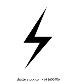 Lighting bolt Icon Vector.