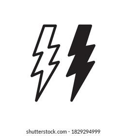 Lighting Bolt Icon Vector Illustration Style