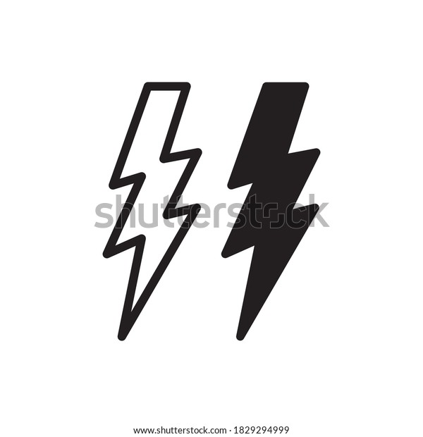 Lighting Bolt Icon Vector Illustration Style
