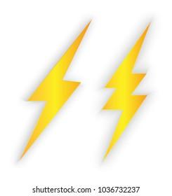 Lighting bolt vector isolated