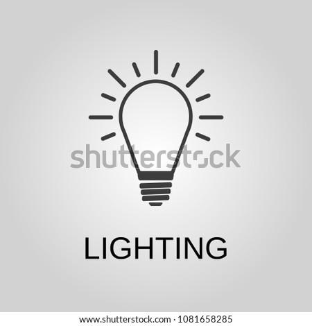 Icon lighting Vector Lighting Icon Lighting Symbol Flat Design Stock Vector Illustration Paladone Lighting Icon Lighting Symbol Flat Design Stock Vector royalty Free