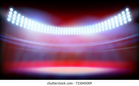 The lighting on big bowl. Vector illustration.