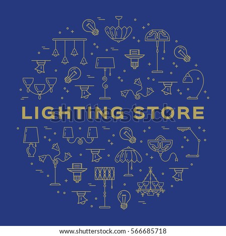 lighting store business card template lamp stock vector royalty