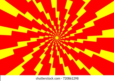 Lightning bolt - abstract geometric vector pattern - red and yellow, Thunder abstract background ,