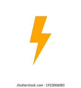lightning bolt of color style design vector template