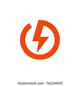 Lightning bolt, electricity, warning signs logo